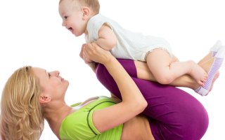 Упражнения для похудения с малышом. Гимнастика для кормящей мамы и ребенка