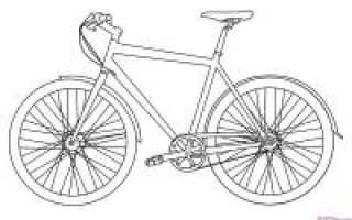 Рисунок велосипеда карандашом для детей поэтапно. Рисуем велосипед