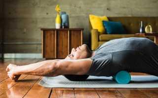Упражнения против боли в пояснице. Подъемы корпуса из положения лежа. Катание на валике для нижней части спины