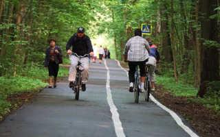 Лучшие места для катания на велосипеде. Велодорожка в Измайловском парке. Юго — Восточный веломаршрут