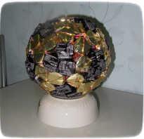 Футбольный мяч из конфет своими руками: мастер-класс с фото. Подарок для мальчика – мяч из конфет. Мастер-класс