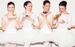 Меню балерины. Рацион питания балерин