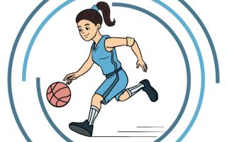 Рисунок баскетболиста с мячом. Как нарисовать мяч карандашом поэтапно легко. Как нарисовать баскетболиста карандашом поэтапно