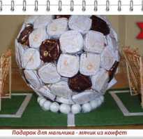 Сделать футбольный мяч из конфет. Футбольный мяч из конфет своими руками: мастер-класс с фото. Декор на выбор