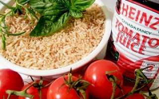 Трехдневная диета. Томатная диета – рис и томатный сок для быстрого похудения