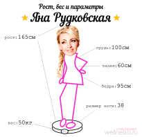 Яна рудковская ножки. Продюсер Яна Рудковская: рост, вес и параметры фигуры