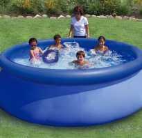 Ремонт надувных бассейнов intex своими руками. Чем заклеить надувной бассейн
